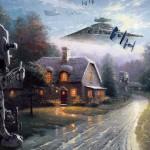 Необычная смесь из «Звёздных войн» и картин Кинкейда