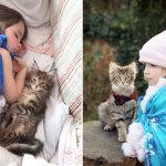 Задушевная дружба страдающей аутизмом 5-летней девочки и её верной кошки