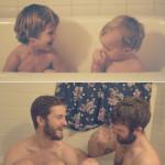 Двое креативных братьев воссоздали свои детские фотографии в качестве подарка для мамы