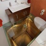 Умывальник для велосипедиста? Коврик для ног с натуральным мхом? В таких ваннах теряешь ощущение времени и пространства!
