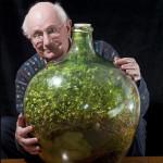 80-летний мужчина не поливает свой мини-сад, запечатанный в бутылке, с 1972 года. И он все еще не завял!